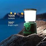 Spritzwassergeschützte LED Camping Laterne mit 3 Helligkeitsstufen – 40 Stunden Laufzeit - 2