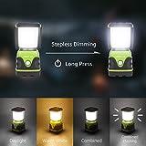 LED Camping Laterne – Notfalllaterne dimmbar mit 3 Helligkeitsstufen und Akkuzustandsanzeige - 6