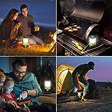 LED Camping Laterne – Notfalllaterne dimmbar mit 3 Helligkeitsstufen und Akkuzustandsanzeige - 5