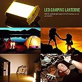 Camping Laterne LED – 48 Stunden Leuchtdauer – 4400mAh bewegliche Aufladeeinheit - 3
