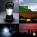 LED Laterne, AGPtek Solarlaterne LED Camping Laterne 5 Modus Kurbel Dynamo 36 LED nachladbare Campinglampe Zeltlampe Notlicht Wasserdicht Tragbare für Outdoor Wandern Camping Zubehör Ausfälle Garten -