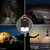 Panpany 440 Lumen Outdoor Laterne tragbares wiederaufladbares Camping Licht IP65 wasserfest Laterne Licht mit 2.1A Ausgang USB aufladen( stoßgeschützt, schwarz) -