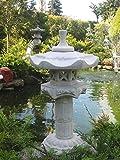 """Japanische Steinlaterne auf Säulenform """"Yukimi"""" – bestehend aus 6 Teilen - 3"""