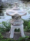 """Japanische Steinlaterne """"Ya"""" – bestehend aus 5 Teilen aus Steinguss - 2"""