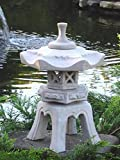 """Japanische Steinlaterne """"Ya"""" – bestehend aus 5 Teilen aus Steinguss - 6"""