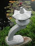 Japanische Rankei Steinlaterne K – asiatische Gartenlaterne – 6 teilig winterfest - 4