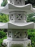 3-geschößige Japanische Steinlaterne – aus 9 Teilen bestehend für den Garten - 2