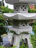 3-geschößige Japanische Steinlaterne – aus 9 Teilen bestehend für den Garten - 4