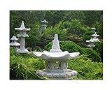 """Japanische Gartenlatern - Steinlaterne """"Vogelhaus"""" auch als Futterstelle geeignet"""