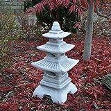 Steinlaterne in japanischer Figur aus Steinguss Gartendeko, witterungsbeständig - 6