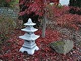 Steinlaterne in japanischer Figur aus Steinguss Gartendeko, witterungsbeständig - 5