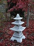 Steinlaterne in japanischer Figur aus Steinguss Gartendeko, witterungsbeständig - 2