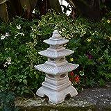 Steinlaterne in japanischer Figur aus Steinguss Gartendeko, witterungsbeständig - 3