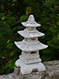 Steinlaterne in japanischer Figur aus Steinguss Gartendeko, witterungsbeständig - 7