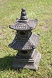 Japan Steinlaterne – 2-stöckige asiatische Pagode Gartenlaterne aus Sandstein - 3