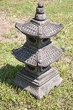 Japan Steinlaterne – 2-stöckige asiatische Pagode Gartenlaterne aus Sandstein - 2