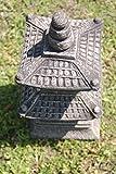 Japan Steinlaterne – 2-stöckige asiatische Pagode Gartenlaterne aus Sandstein - 5