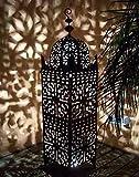 """Orient marrakesch Eisen Laterne """"Frane"""" Höhe 105 cm - einzigartiges Windlicht"""