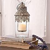 """Glas Laterne """"Lumio"""" im orientalischen Stil – Handgearbeitetes Glas Windlicht - 2"""