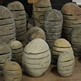 Wuona Objects Steinlampe XL Fluss-Stein 50-60 cm Gartenlampe Handarbeit Bali - 2