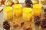 Heitmann Deco 4er Set LED-Advenskerzen – Echtwachs-Kerzen mit Timer – gold – für innen – batteriebetrieben - 2