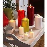 PAPSTAR Advent-Kerzen, Paraffin, Rot, 20.2 x 10.3 x 10 cm - 2