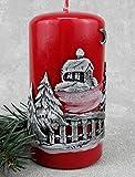 Kerzen Advent Weihnachten Adventskerzen 4x 60/115mm Rot/Silber KW-RAK-001