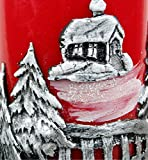 Kerzen Advent Weihnachten Adventskerzen 4x 60/115mm Rot/Silber KW-RAK-001 - 2