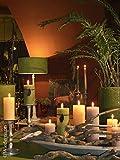 8 Stück durchgefärbte Stumpenkerzen (H x Ø) 100 x 68 mm, Farbe Bordeaux, mit ASF-Folie zum Abbrandschutz, Wiedemann Marble Kerzen, Advent, Adventskranz, Weihnachten, Dekoration, Event - 5