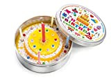 DONKEY Products Kerze in Dose Candle to Go Birthday, Geburtstagskuchen, inkl. 8 Mini-Kerzen, Ø 8 cm, 220206