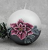 Kerzen Kugelkerze Advent Weihnachten Adventskerzen RA-002 100mm Weiß