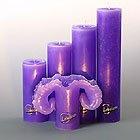 Candela Lotuskerze basic lila 23 cm