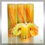 Candela Lotus-Kerze Aquarell Frühlings Töne 28 cm