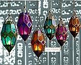 Orient Laterne im Moroccan Style - Hängewindlicht in verschiedenen Größen & Farben