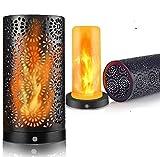 LED Flamme Wirkung Licht, Wiederaufladbar Tischleuchte Flackernde Flamme Glühbirnen Nachtlichter, wasserdicht, Innen Draussen by Yinuo Mirror
