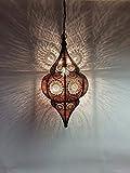 """Orientalische Marokkanische Laterne """"Malha"""" + elektronischem Zubehör - 6"""
