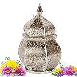 Orientalische Laterne Sideja - indisches Windlicht - mediterrane Gartenlaterne Orientlampe