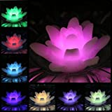 ARDUX LED Schwimmkerzen, 4er Pack Lily-förmigen Wachs wasserdicht Kerze Teelicht Nachtlicht flammenlose Kerze mit batteriebetriebenen für Hochzeit Dekoration (Mehrfarbig)