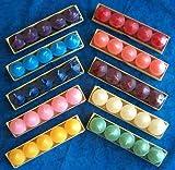 Timtina 120 Votivkerzen ca 8-10 Düfte durchgefärbt viele Farben (120, ganzjahresdüfte Fruity) - 2