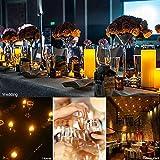Expower 12er LED Flammenlose Kerzen,Wiederaufladbare Kerzen, Batteriebetriebene Kerzen Kabellose Teelichter LED-Weihnachtskerzen Kerzenlichter Led Wachskerzen Mit Ladestation(Ohne Netzteil) - 6