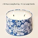 Duftkerze Geschenk Groß 400g 3 Dochte, Baumwolle Duft Aromatherapie Natürliches Sojawachs Kerze - 7