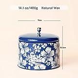 Duftkerze Geschenk Groß 400g 3 Dochte, Baumwolle Duft Aromatherapie Natürliches Sojawachs Kerze - 4