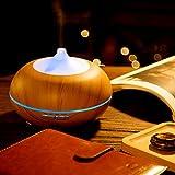 Aroma-Diffuser Anypro 300ml Ultraschall Luftbefeuchter Holzmaserung mit 7 Farben LED Licht - 7