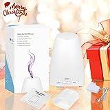 AMIR Aroma Diffuser, 150ml Diffusor Ultraschall Luftbefeuchter Tragbarer Aromatherapie Ätherischesöl Oil Diffusor mit 7 LED Farbwechsel Einstellbarer Nebel-Modus für Babies Yoga Schlafzimmer Büro usw - 8