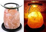Öllampe/Teelichthalter/Duftlampe/Stövchen aus natürlichem Himalaya-Salzstein, auch für Duftwachs von Yankee Candle, aus der Klass Home Collection®