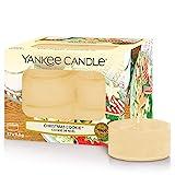 Yankee Candle Teelichter-Kerzen, Christmas Cookie, 12er-Packung