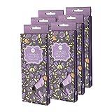 AMELI 4216 Lavendelduft und Eukalyptus Duft Teelicht, Wachs, Paraffin, Dunkelviolett, 27,5 x 9,5 x 13,5 cm