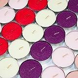 24 x Maxi Duft Teelichter - Duft wählbar - Kerzen Brenndauer 9 Stunden Wachskerzen 5 Düfte (Vanille / zartes Gelb)