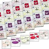 24 x Maxi Duft Teelichter – Duft wählbar – Kerzen Brenndauer 9 Stunden Wachskerzen 5 Düfte (Vanille / zartes Gelb) - 3
