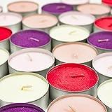 24 x Maxi Duft Teelichter – Duft wählbar – Kerzen Brenndauer 9 Stunden Wachskerzen 5 Düfte (Vanille / zartes Gelb) - 4